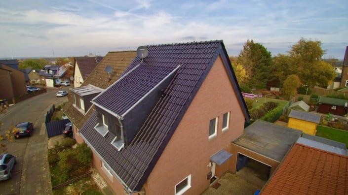Saniertes Dach Draufsicht