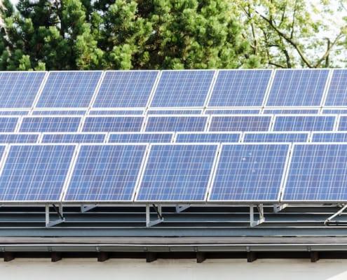 Flachdach Solaranlage