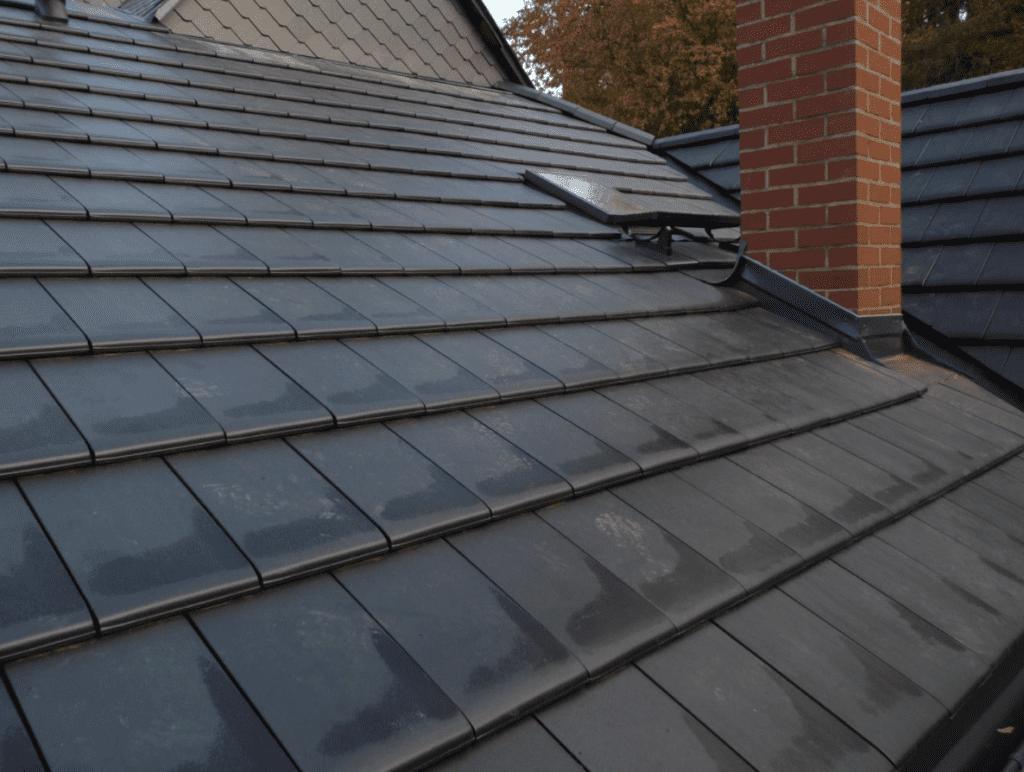 Dacheindeckung mit Dachsteinen