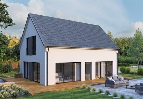 Dachpfannen - Haus mit Rathscheck Schiefer