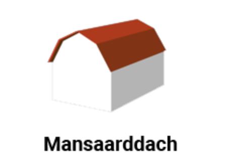 Diagramm der Dachform - mansaarddach