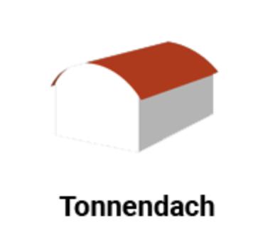 Diagramm der Dachform - tonnendach