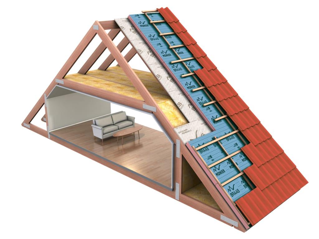 Diagramm der Dachisolierung