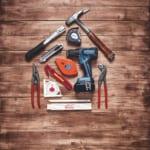 Werkzeuge für die Dachreparatur