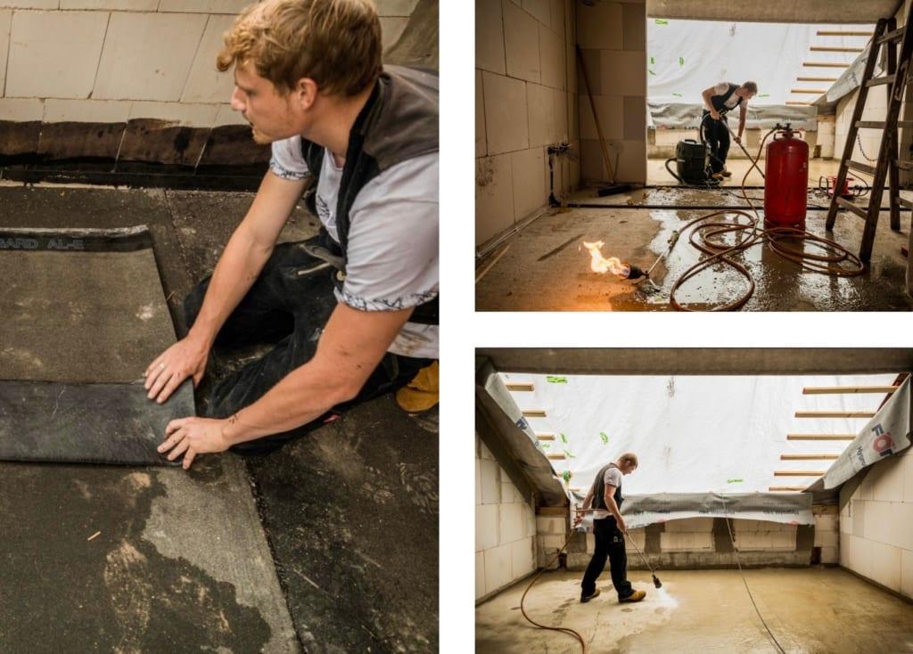 Dachdecker arbeiten gemeinsam mit MeinDach an einer neuen Dachkonstruktion