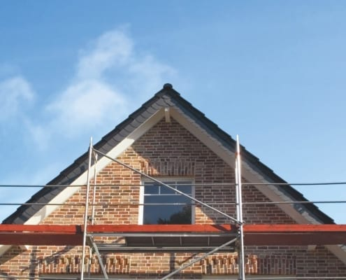 ein Dach bereit, erneuert zu werden