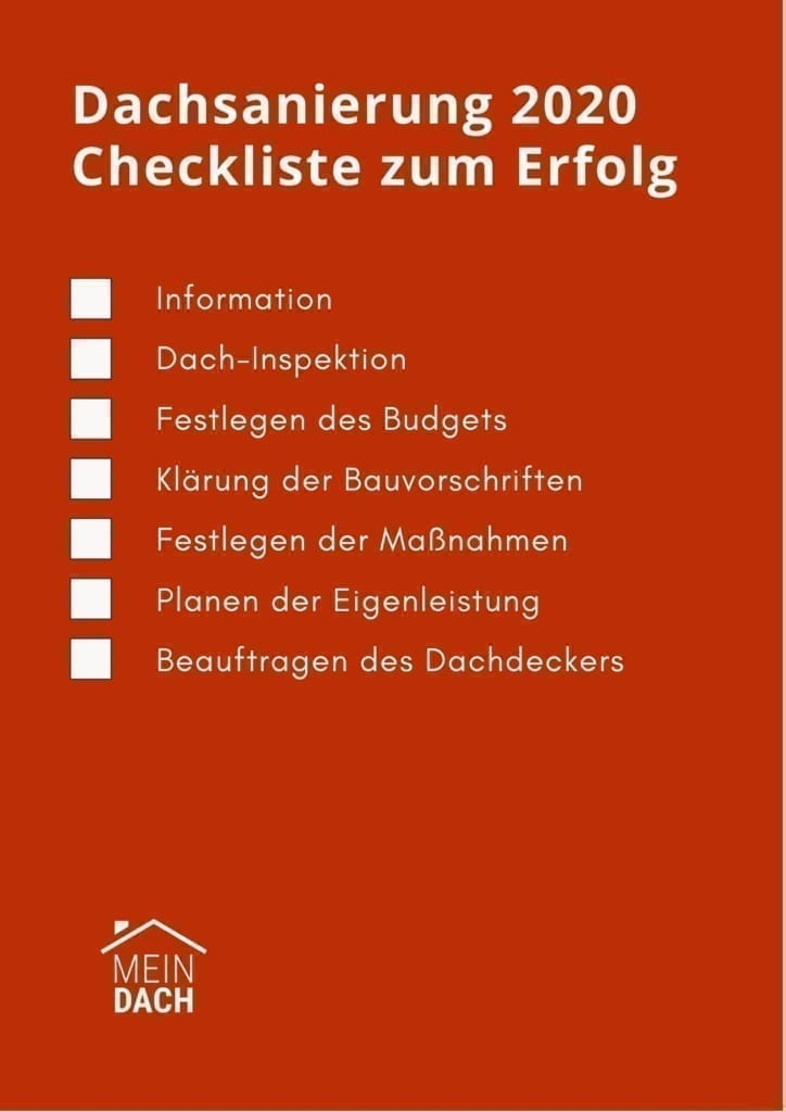 Dachsanierung 2020 checkliste von MeinDach