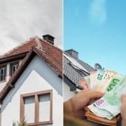 Bild des Geldes und eines Dachs, das anzeigt, wie das Klimapaket Sie Geld auf Ihrem Dach sparen kann