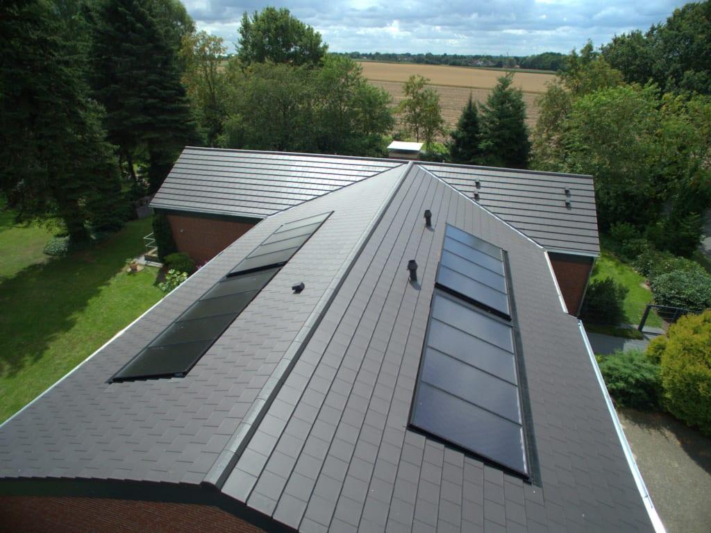 Sonnensystem auf dem Dach