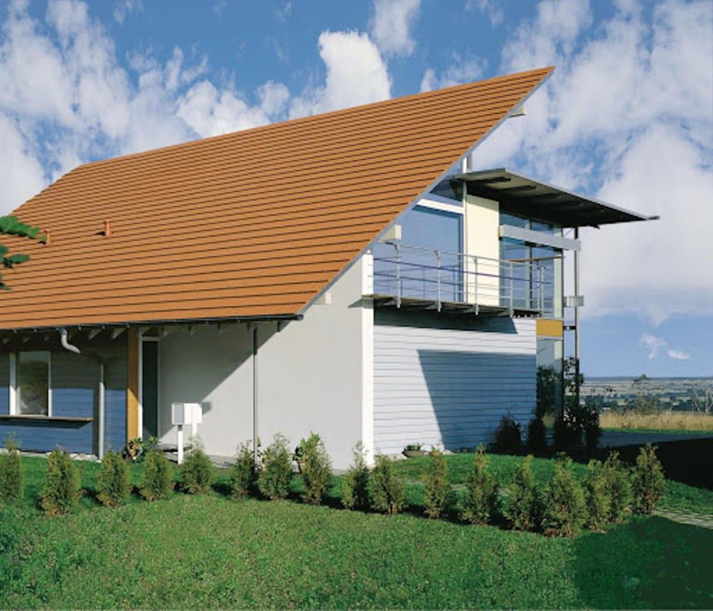 Modernes Haus mit Pultdach