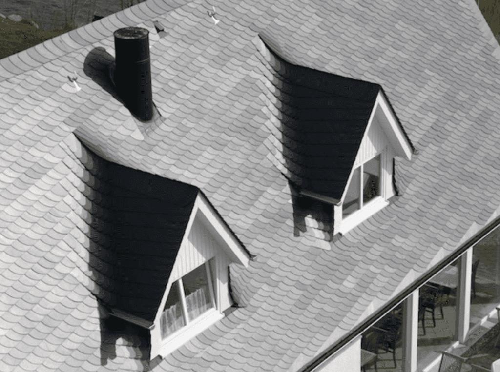 Dacheindeckung mit Schiefer