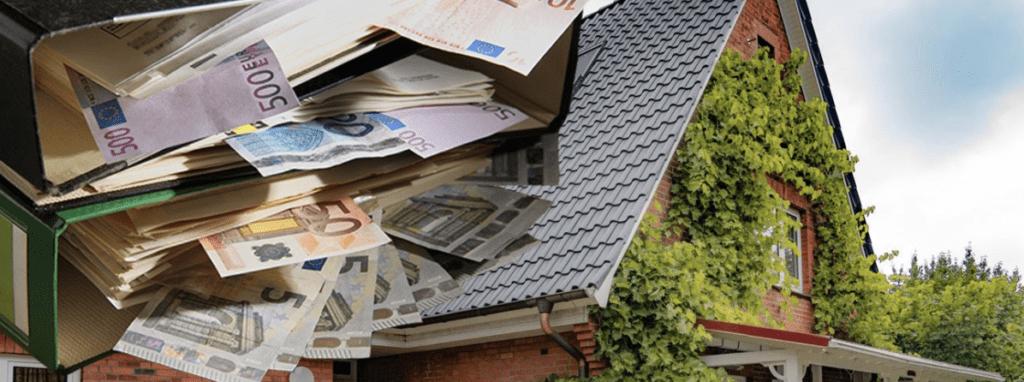 Euro, dach und Dachmaterial.