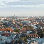 Dächer über Stadt in Deutschland
