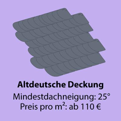 Diagramm von altdeutsche deckung